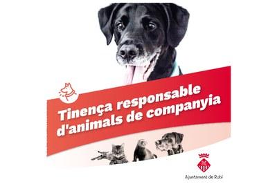 Imatge de la nova campanya de tinença responsable d'animals de companyia.