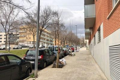 Un dels punts on es planten nous arbres és l'avinguda de Josep Ferrer Domingo (foto: Ajuntament de Rubí – Localpres).