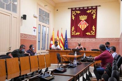 La reunió s'ha celebrat aquest dimarts (foto: Ajuntament de Rubí – Localpres).