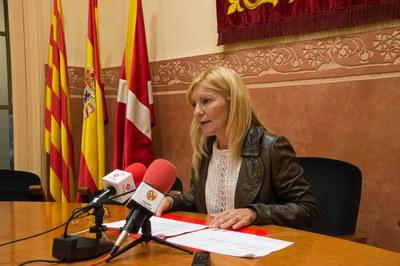 L'alcaldessa ha fet balanç dels primers 100 dies de govern (foto: Localpres).