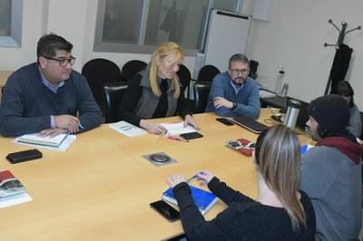 Un moment de la trobada d'aquest dimecres (foto. Ajuntament de Rubí – Localpres).