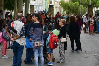 """Els infants i les seves famílies poden participar plegats a les activitats de l'""""Efecte E"""" (foto: Localpres)."""
