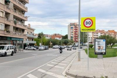 La reducció de la velocitat genèrica a 30 km/h queda recollida a l'avantprojecte d'ordenança (foto: Ajuntament de Rubí – Localpres).