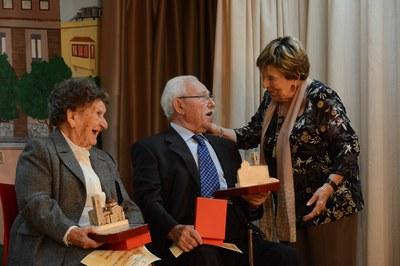 Els homenatjats: Teresa Rusiñol i Francesc Roig (foto: Localpres)