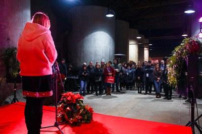 El Celler ha tornat a acollir la tradicional recepció de Nadal (foto: Ajuntament de Rubí – Lali Puig)