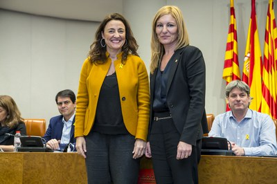 Moment de la presa de possessió (foto: Diputació de Barcelona).