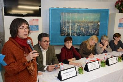 L'alcaldessa, Ana María Martínez, ha estat una de les persones que ha participat a la taula rodona (foto: Localpres)