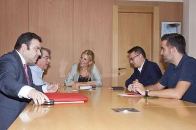 La trobada ha tingut lloc aquest divendres a l'Ajuntament de Rubí (foto: Localpres).