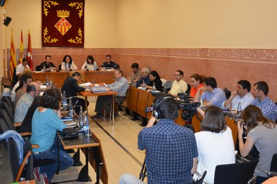Aquesta ha estat la darrera sessió plenària presidida per l'actual alcaldessa, Carme García.