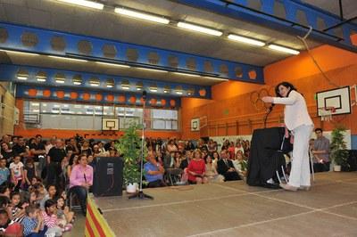 L'acte ha tingut lloc al gimnàs de l'Escola Schola (foto: Localpres).