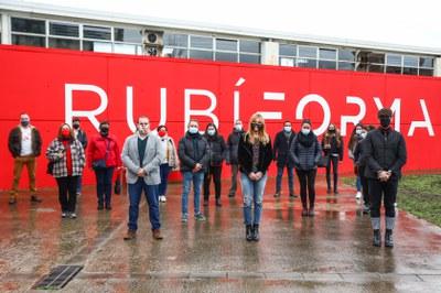 L'alcaldessa s'ha trobat amb les noves contractacions al Rubí Forma (foto. Ajuntament de Rubí – Lali Puig).