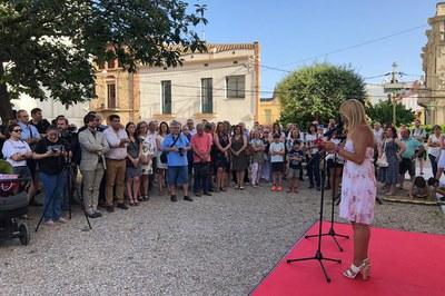 L'alcaldessa, Ana María Martínez, dirigint-se a les entitats de la ciutat (foto: Ajuntament – Localpres).