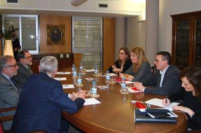 Un moment de la trobada a la seu de la Cambra (foto: Cambra de Terrassa).