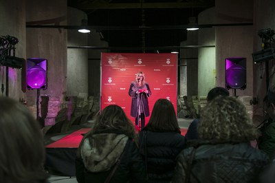 L'alcaldessa ha agraït la tasca de les entitats (foto: Ajuntament de Rubí – Lali Puig).