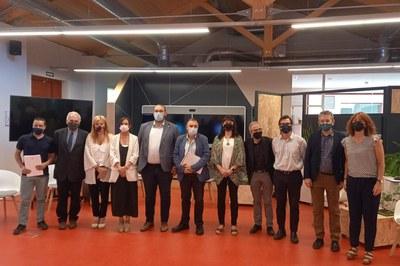 A la jornada hi han participat diversos alcaldes i alcaldesses de l'Arc metropolità, entre els quals hi havia Ana María Martínez Martínez (foto: Ajuntament de Mataró - Albert Canalejo).