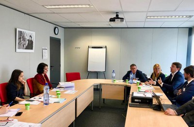 Un moment de la reunió d'aquest dimecres a Brussel·les (foto: Ajuntament de Rubí).