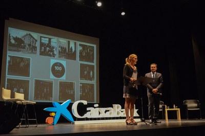 L'alcaldessa, durant el seu discurs (foto: Localpres).