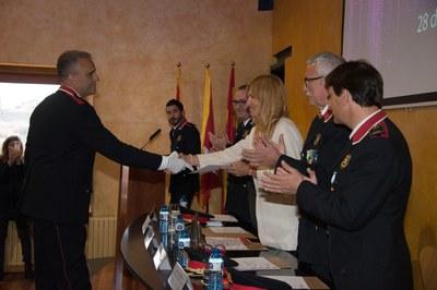 L'alcaldessa ha participat en el lliurament de reconeixements (Foto: Localpres).