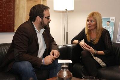 El delegat del Govern, reunit amb l'alcaldessa (foto: Ajuntament – Lali Puig).