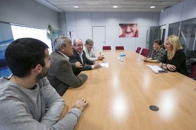 Imatge de la reunió amb els responsables de Fupar (foto: Lali Puig)