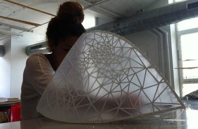 Una estructura 3D a edRa (foto. Ajuntament de Rubí – edRa).