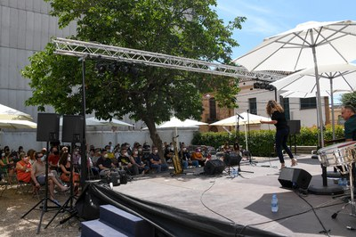 Concert del Marian Barrahona Quartet a la primera part de les Jornades de Jazz, durant la Festa Major (foto: Ajuntament de Rubí – Localpres).