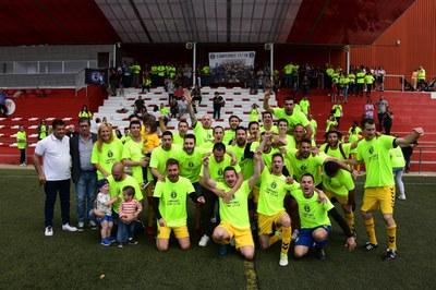 L'alcaldessa i el regidor d'esports durant la celebració (Foto: Localpres).