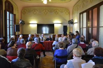 La presentació ha deixat petit l'auditori de l'Ateneu.
