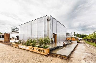 El prototip d'edifici sostenible de l'equip 'Ressò' s'instal·larà properament a la urbanització de Sant Muç (foto: ETSAV).