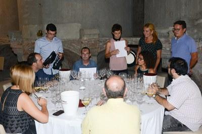 El tast final va tenir lloc a la sala de les Tines (foto: Localpres).