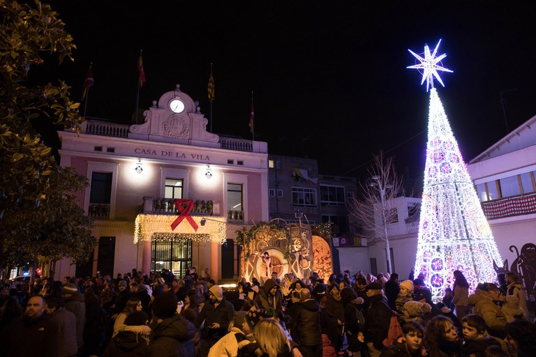 Encesa dels llums de Nadal (foto: Localpres)