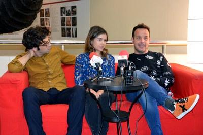David Verdaguer, Mar Ulldemolins i Àngel Llàcer s'han trobat amb els mitjans locals al Teatre Municipal La Sala.
