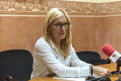 Ana María Martínez ha presentat les propostes d'ordenances fiscals aquest dimarts (Foto: Cesar Font).