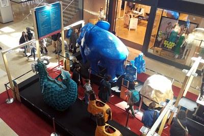 El Bòjum i les casaques, a l'exposició (foto: edRa).