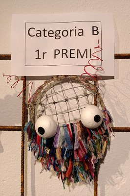 Màscara guanyadora a la categoria B, creada per Mireia Cortés (foto: Ajuntament)