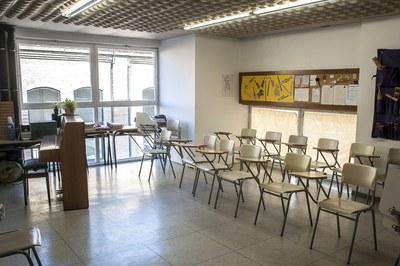 Una de les aules de l'Escola Municipal de Música Pere Burés (foto: César Font).