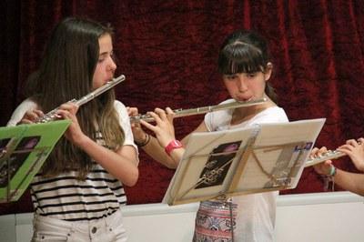 S'organitzen tallers oberts de diversos instruments (foto: Escola Municipal de Música Pere Burés).