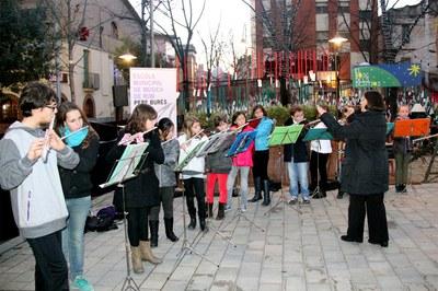 Concert de flautes durant el Nadal 2013.