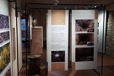 La mostra il·lustra la tradicional construcció en pedra seca (foto: cedida).
