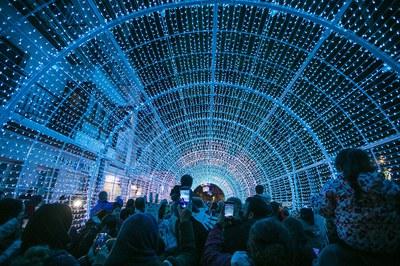 L'Illa de la Llum ha estat el gran reclam de l'encesa de l'enllumenat nadalenc (foto: Ajuntament – Lali Puig).