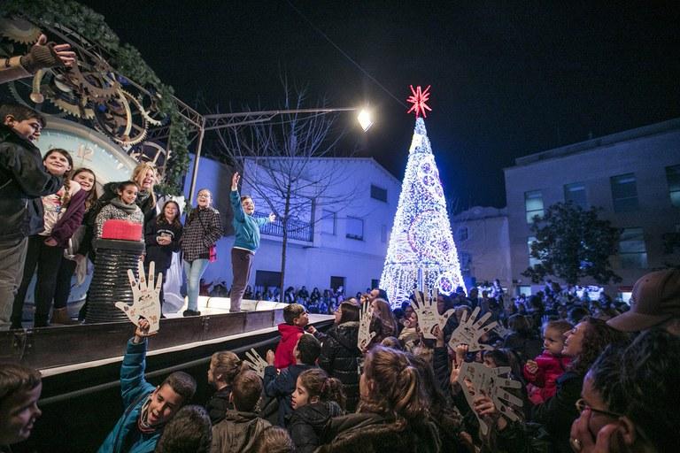 Encesa de l'enllumenat de Nadal (foto: Ajuntament – Lali Puig)