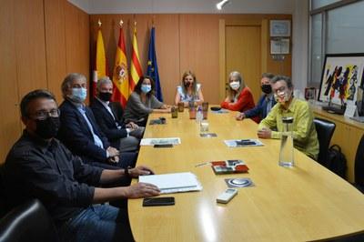 La reunió sobre el futur del camp de golf de Can Sant Joan s'ha fet a l'Ajuntament de Rubí (foto: Ajuntament de Rubí).