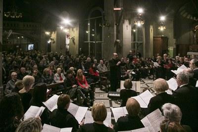 El Concert de Nadal ha tingut lloc a l'església de Sant Pere (foto: Ajuntament de Rubí – Lali Puig).