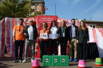 L'alcaldessa i el regidor de Cultura han lliurat els premis del Concurs de plaques de cava (foto: Localpres)