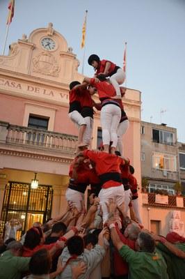La 20a Diada dels Castellers de Rubí s'ha celebrat en el marc de la fira (foto: Localpres)
