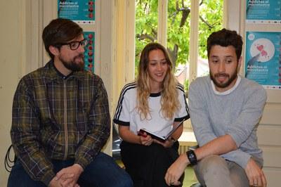 Rodríguez, Tínez i Fernández, durant la presentació del festival davant dels mitjans de comunicació locals (foto: Ajuntament).