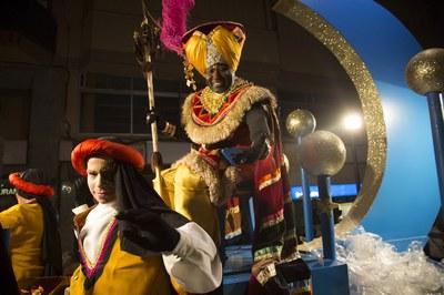 El rei Baltasar en la seva darrera visita a Rubí (foto: Localpres).