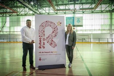 La presentació de La Nit de l'Esport ha tingut lloc al pavelló de La Llana (Foto: Cesar Font).