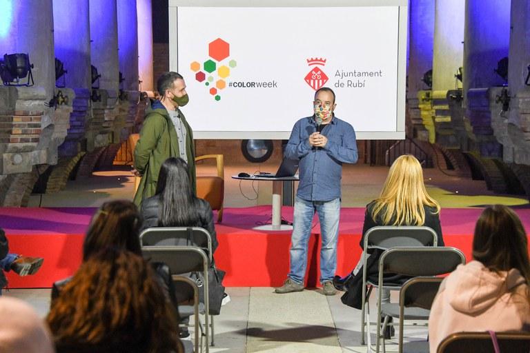 Presentació de la conferència (foto: Ajuntament de Rubí - Localpres)