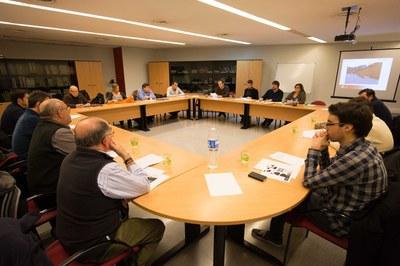 Aquesta ha estat la tercera vegada que s'ha reunit la comissió cívica del projecte Buits plens (foto: Localpres).
